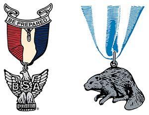 Eagle Scout & Silver Beaver award illustrations